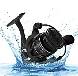 CS5 Spinning Reel,Cadence Ultralight Fast Speed Carbon Frame Fishing Reel with 9 Durable & Corrosion Resistant Bearings Super Value Smooth Powerful Reel with 36 pounds Max Drag & 6.2:1 Spinning Reel