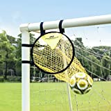 PodiuMax Top Bins Soccer Target Goal, Easy to Attach and Detach to The Goal, Set of 2, for Shooting Accuracy Training
