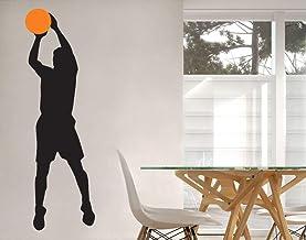 universumsum Muursticker Basketbaler vrijworp 2-kleurig paars 20 x 66 cm wal234-20-040 Muursticker Muursticker Kinderkamer...