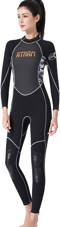 Dumanfs Wetsuits Women's Premium Neoprene Back Zip Swimsuit Snorkeling Surfing Fishing Scuba Diving Girls