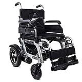 silla de ruedas Silla de ruedas eléctrica plegable (controlador del lado derecho) - Silla de ruedas eléctrica compacta con ayuda de movilidad, velocidad 1-8 km/h, carga máxima 120