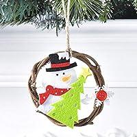 クリスマスの装飾、クリスマスの花輪、不織布、籐の指輪、丸いドアと窓、ペンダント、スタイリッシュなクリスマスの装飾、アクティビティ、パーティーの装飾、壁の装飾