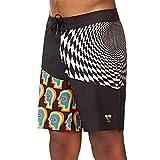 Globe COF Boardshort – Costume da Bagno da Uomo, Uomo, Costume da Bagno, GB01928008, Nero (Vortex Black), 30