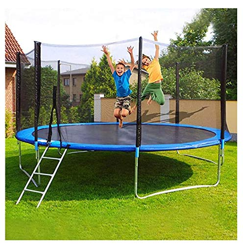 Omaxy Kids Adults Trampoline with Enclosure Net, 10FT Trampoline with Safety Enclosure - Indoor or Outdoor Trampoline for Kids,Net Go Outside The Poles