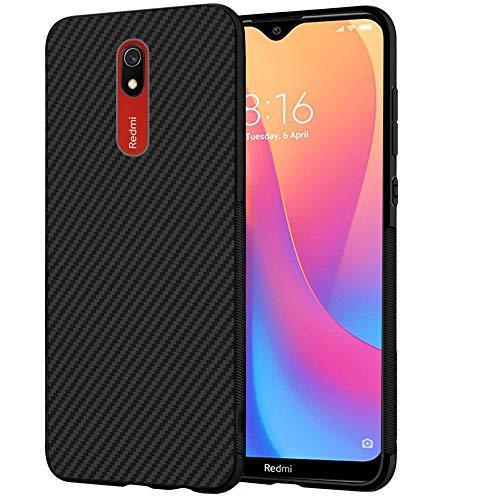 ebestStar - Funda Compatible con Xiaomi Redmi 8A Carcasa Silicona Gel, Protección Diseño Fibra Carbono Premium Ultra Slim Case, Negro [8/8A: 156.5 x 75.4 x 9.4mm, 6.2'']
