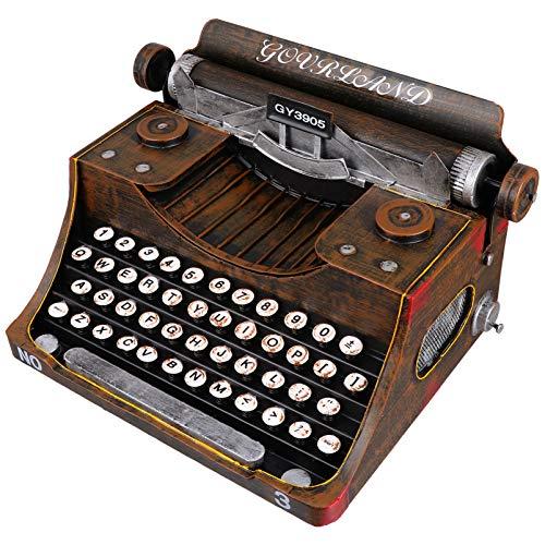 BESPORTBLE 1 peça de máquina de escrever vintage, modelo de arte de ferro retrô, máquina de escrever manual, decoração de mesa, decoração de casa