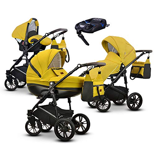 Friedrich Hugo Savior | 4-in-1 combi kinderwagen | ISOFIX set Gel mosterd