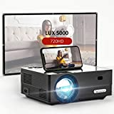 Yefound Movie Projector 720P Native with 100Inch Projector and Screen WiFi Home and Outdoor Video Projector 50000 Hours Lamp Life Compatible with Home Theater Stick TV Box Laptop Video Games