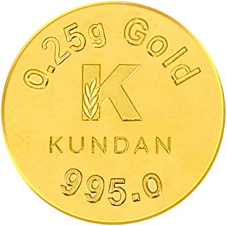 Kundan 24k (995) 0.25 gm Yellow Gold Coin