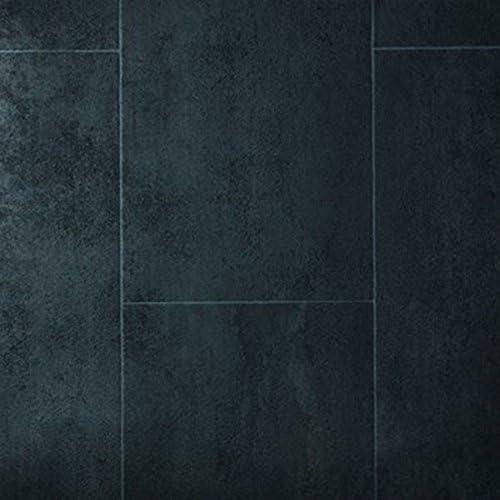 9,50 p .m/² PVC Bodenbelag Fliese Anthracite Melbourne Noir Breite: 200 cm x L/änge: 450 cm