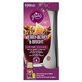 Glade (Brise) Automatic Spray, ambientador, incluye 1 recarga, Merry Berry & Bright (Rote Beeren, vino caliente, barras de canela), 269 ml, 4 unidades