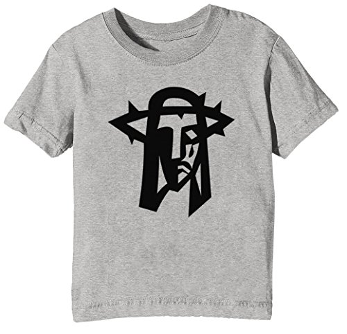 Jesús Cristo Niños Unisexo Niño Niña Camiseta Cuello Redondo Gris