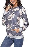 Little Hand - Sudadera con capucha para mujer, diseño de camuflaje Blumen Dunkelgrau S