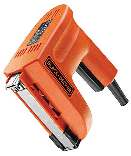 Black+Decker Elektrotacker (für Klammern und Nägel, 1500W, Elektronagler, Universalmagazin, 20 Schuss/min, Schusskraft regelbar, zum Heften, Nageln, Schuß-Entsicherung bei direktem Kontakt) KX418E