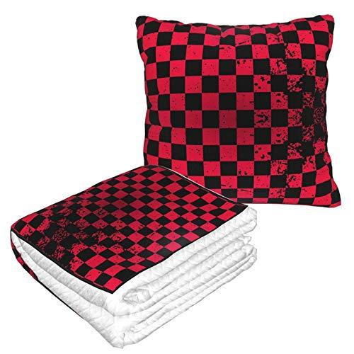Manta suave 2 en 1 de forro polar, colorida para sofá, oficina, para hombres y niñas