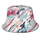 FULIYA Fisherman Senderismo Sombrero de ala ancha, Resumen Color Pastel Salpicaduras Artística Aspecto Sucio Líquido Splat Gotas Impresión