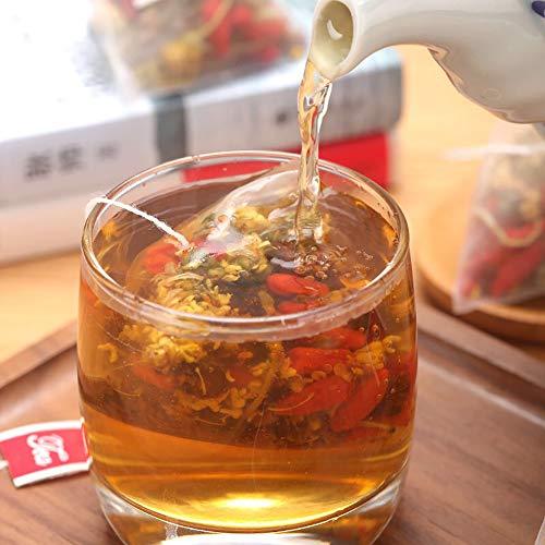 Bacilio 金銀花 菊花茶 菊花决明子茶 湿清茶 祛湿茶 中国茶 桂花 枸杞茶 菊の花ケツメイシ茶 配合ハーブ茶 ハーブティー 健康茶 ティーバッグ30包