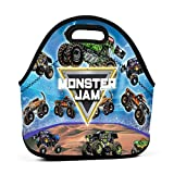 Mon-ster J-am Truck Lunch Bag Insulated Lunch Box for Women Men Kids Neoprene Thermal Tote Durable Reusable Bag Leakproof Lunch Pail for School College Work Picnic Hiking Beach Fishing