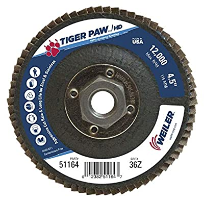 Weiler Tiger Paw XHD Super High Density Abrasive Flap Disc