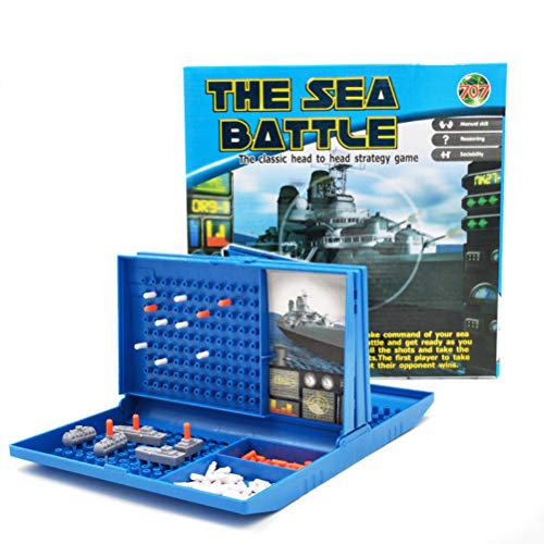BST&BAO Ships Sinking Game, Classic Battleships Board Game, Fleet Maneuvering Toys Retro Series Colorful Travel and Family Game