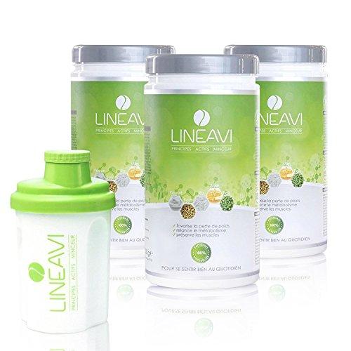 classement un comparer LINEAVI Ingrédient Actif Minceur, Substitut de Repas en Poudre, Combinaison de Protéines: Soja,…
