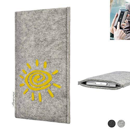 flat.design Handy Hülle für Planet Computers Cosmo Communicator FARO mit Sonne Filz Schutz Tasche Etui Made in Germany fair