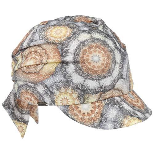 McBURN McBurn Flowy Sommerturban mit Schirm Turban Bandana Cap Sommermütze Damenturban Damen - Kopftuch Frühling-Sommer - One Size beige