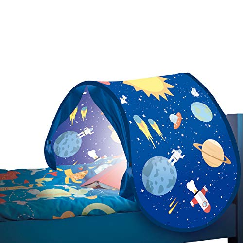 BEST DIRECT Starlyf SleepFun Tent Original aus Dem TV-Werbung Pop Up Bed Tent Playhouse for Children (Girls & Boys) with Reading Lights Decoration for Kids Bedroom Single Beds (Blau)
