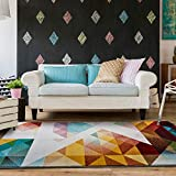 UNIVERSAL Alfombra geométrica Pandora Triángulos Multicolor 160 x 230 cm, 39826