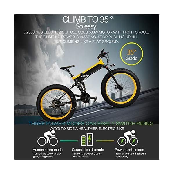 51sdvj3H6eL. SS600  - Dušial Elektro Fahrrad 500 Watt 48 V e-Bike Pedelec Faltbares Elektrofahrrad Elektrisches Fahrrad Damen Herren Mountain E-Bike für Erwachsene