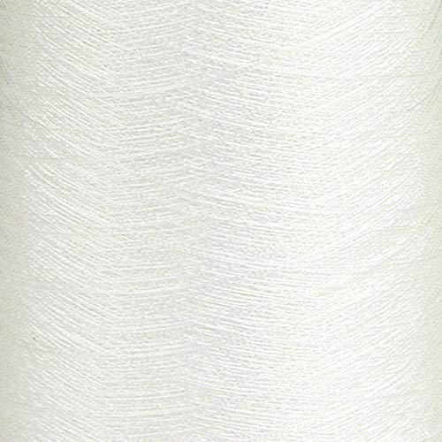 GARBO Iridescent White Embroidery Thread, 3050 Yard Spool