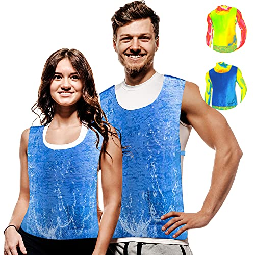 Body Cooling Vest for Men Women PVA Water Activated Ice Cold Vest Cool Vest for Sunstroke Protective Working Motorcycle