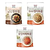 Popular side dishes of Korea Types of Food : Side dishes (can be stored at room temperature) Manufacturer : Daesang (Korea) Capacity : 250g (60g+60g+130g)