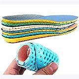 HWYJ Insole 1 Pareja Unisex Stretch Transpirable Desodorante Zapato Soft Relieve Dolor Cojín Cojín Cojín Plantillas Pad Insertar 35-40 Cozy (Color : M 22.5cm 25cm)