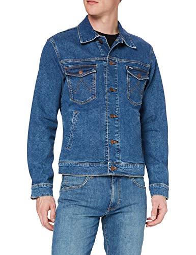 Wrangler Regular Jacket Giacca, Blu (Mid Rocks 32e), Large Uomo