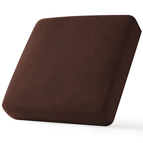 CHUN YI Stretch Chair Couch Cushion Cover Suitable for Armchair, Sofa Seat Slipcover Replacement with Spandex Jacquard Fabric, Small, Chocolate