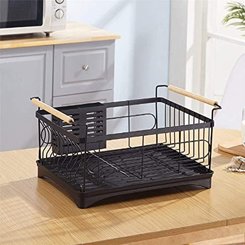 HYDL Kitchen Sink Bowl, Dish Plate Durable Space Saving Drain Drain Rack Stainless Steel Sink Rack Kitchen Accessories for