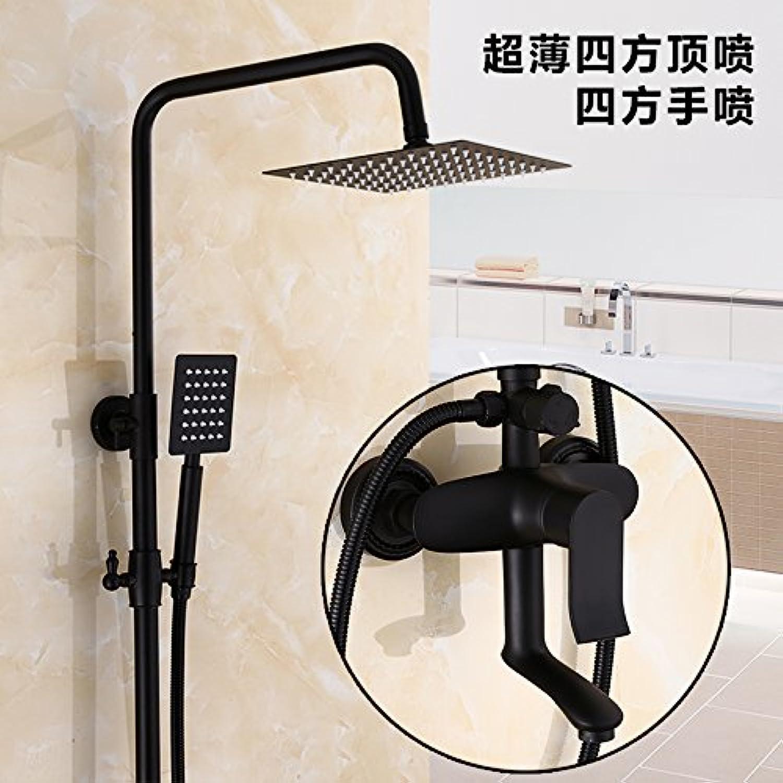 MangeooDie wichtigsten Kupfer 4 schwarz matt Matt entsprechen europischen Dusche Dusche, Dritten ultra-dünnen Wasser Booster