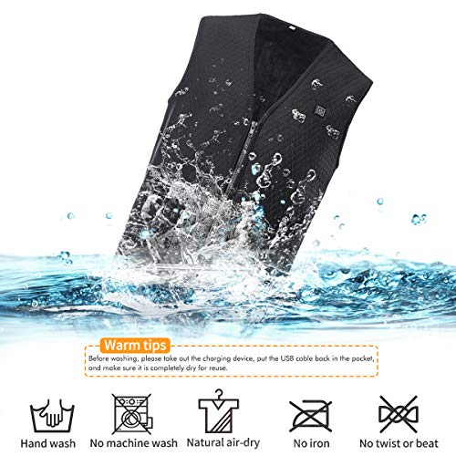 Martiount Chaleco Calefactable con Carga USB Lavable Chaleco C/álido de Invierno para Actividades Aire Libre Adecuado para Hombres y Mujeres Pesca Esquiar Caza