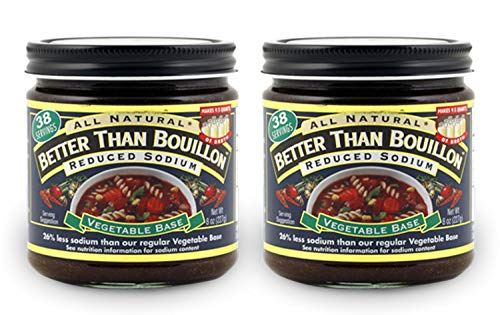 Better Than Bouillon Seasoned Vegetable Base, Reduced Sodium 8 oz (Pack of 2) in a Prime Time Direct Sealed Bag