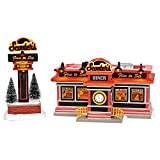 Department 56 Original Snow Village Scooter's Diner Lit Animated Buidling and Figurine Set, 6.1 Inch, Multicolor