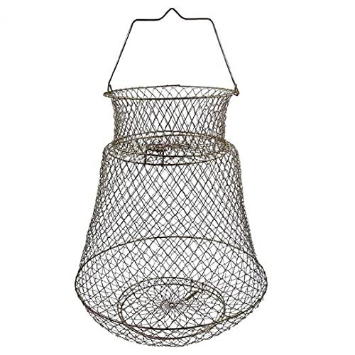 Runfon Cesta de Pesca Cabina de Cangrejo Cage Portátil Cable de Acero...