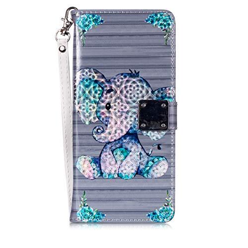 Viola Glitter Bling Cuoio Portafoglio Flip Case 3D Wallet Case Custodia in PU Cover con Pellicola in Vetro Temperato Fatcatparadise Cover Compatibile Samsung Galaxy S7 Edge