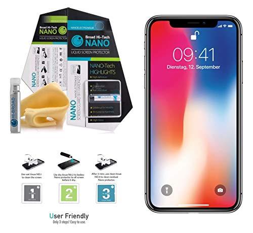 Shoptronics24 flüssig Panzerfolie fürs Smartphone Panzerglas für Handys Display Schutz Folie Apple iPhone Samsung Huawei Sony LG Acer ASUS Alcatel BQ HP ZTE Xiaomi usw. (Huawei Honor 6C Pro)