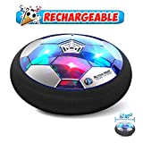 Hover Soccer Ball Boy Toys Rechargeable, Toddlers Kids Indoor Air Soccer Ball Floating LED Light Up, Power Kick Disc Fun with Foam...