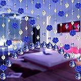 Kristall Vorhang 1M Kristall Perlen Girlande Octagon Bead Garland AnhäNger Wohnzimmer Vorhang Partei Dekor Clear HäNgende Perlenvorhang DIY TüRvorhang Raumteiler