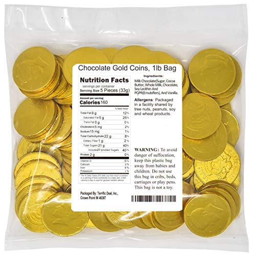 Chocolate Gold Coins, 1lb Bag