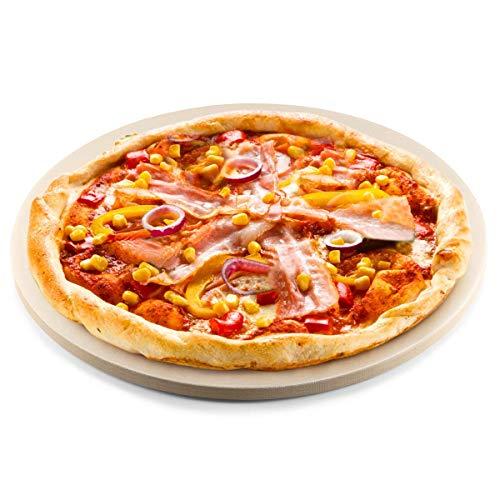 HungKai Pietra Refrattaria per Pizza da Forno Elettrico - con Pala per Pizza - Adatta per Forno e Grill, Pietra per cuocere Pizza Croccante, Anche per cuocere Il Pane - 33x33cm 900°