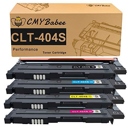 CMYBabee Compatible Cartouches de Toner Remplacement pour Samsung CLT-P404C CLT-K404S CLT-C404S CLT-M404S CLT-Y404S Compatible pour Samsung Xpress SL-C430 SL-C430W SL-C480 SL-C480W SL-C480FW SL-C480FN