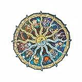 Yarmy Rompecabezas de Madera de Las Doce Constelaciones para Adultos y niños, Rompecabezas de Madera únicos de Doce Constelaciones, Rompecabezas de Piezas de Animales (28 * 28cm)
